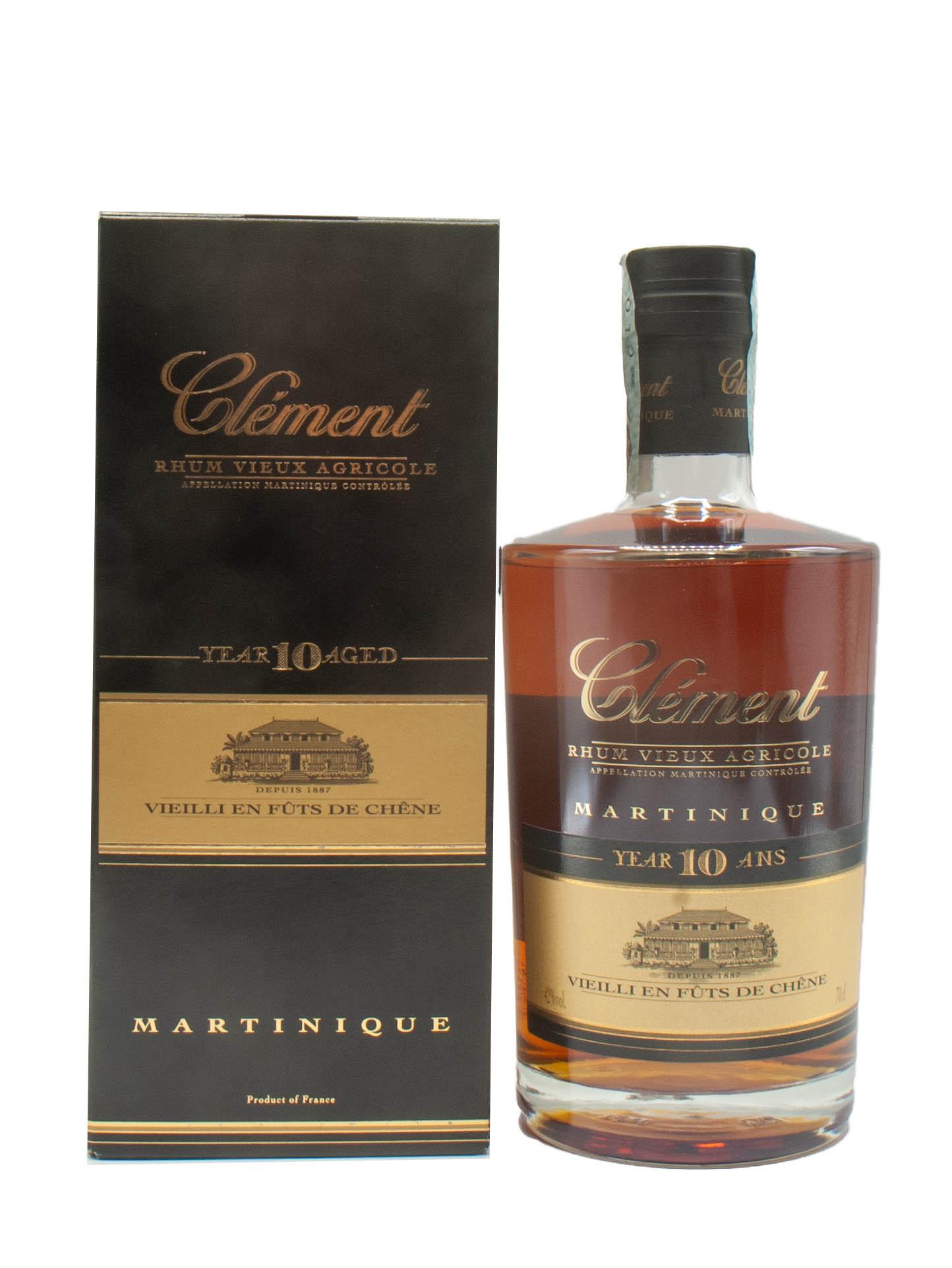 Rum Clement 10 Y Martinique
