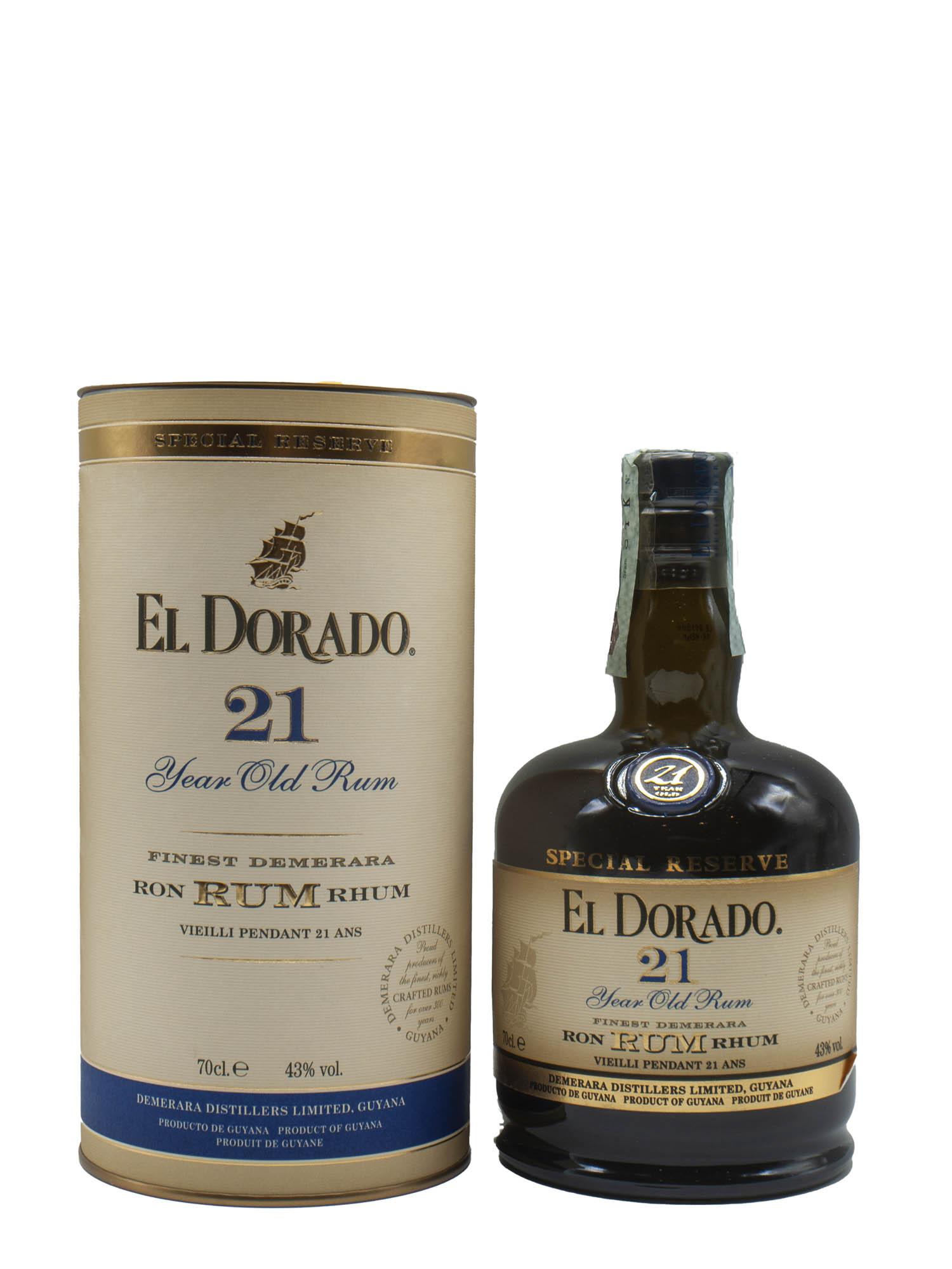 Rum El Dorado Demerara 21 Year Old