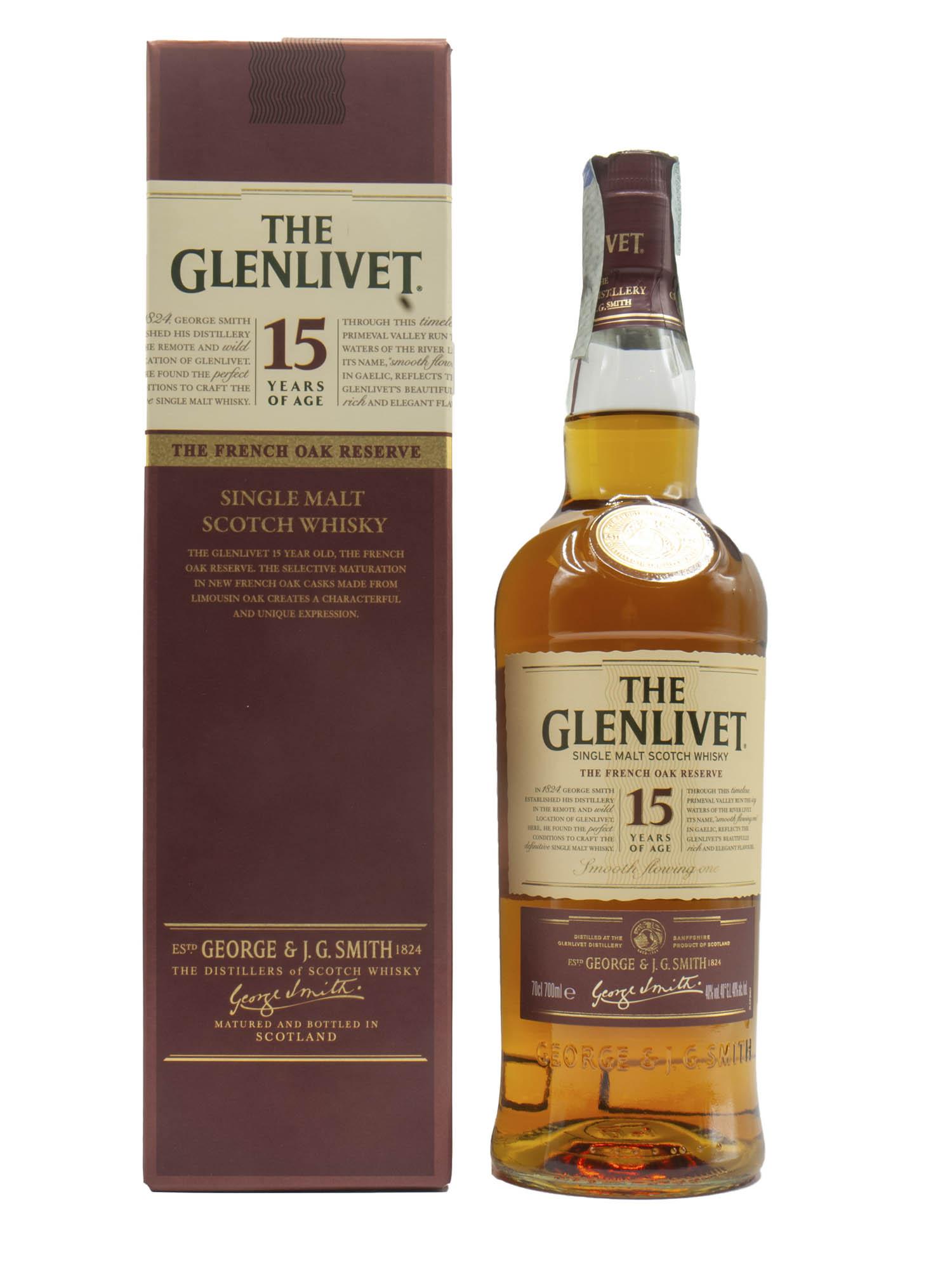 WHISKY GLENLIVET 15 YEARS MALTO